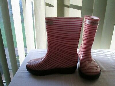 """Childs Burberry Wellingtons size 11/12 """"Used"""""""