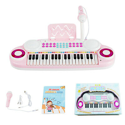 37-Key Toy Keyboard Piano Electronic Musical Instrument w/Music Score&Microphone