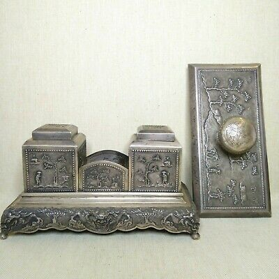 Vintage Vietnamese Silver set, 20th century, There is stamped