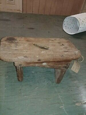 Antique Wooden Railroad Porter's Step Stool