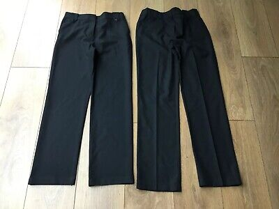 Girls 2 Pack BHS Black School Trousers Age 12( One Pair New)