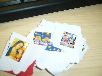 50  2nd Class Stamps , Mixed Designs UK/British Stamps Unfranked on paper