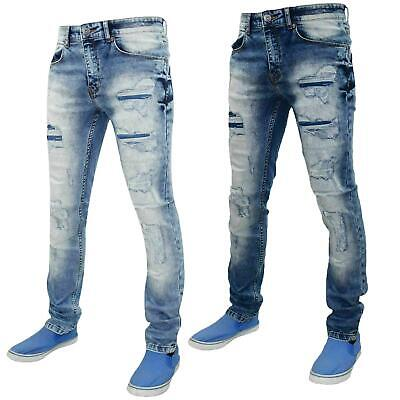 Mens Ripped Jeans Denim Pants Trousers Slim Fit Stretchable Cotton Jean 28 to 38