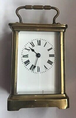 Vintage Brass Carriage Clock With Key Stamped ACC