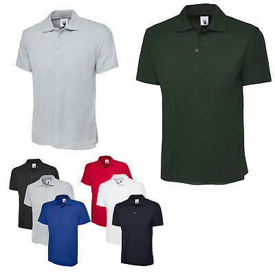 Mens Lightweight Breathable Polo T Shirt Size S to 4XL  WORK & CASUAL SHIRTS 124