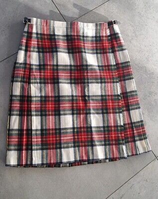 Jedburgh Vintage 100% Pure New Wool Plaid Kilt - Uk Size 20