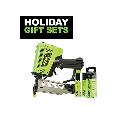 "Grex #Gc1850.H1 Cordless 2"" 18 Gauge Brad Nailer Gift Set"
