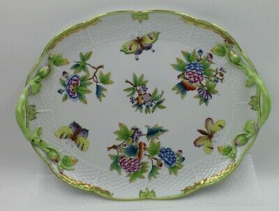 Herend Queen Victoria Oval Handled Platter Tray VBO 411