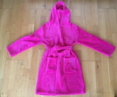 Girls George Pink Fluffy Dressing Gown. Age 9-10. Hardly worn