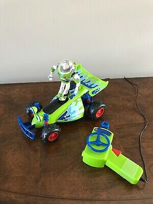 Disney Pixar Toy Story RC Wired Remote Controlled Car w/ Buzz Lightyear -Rare