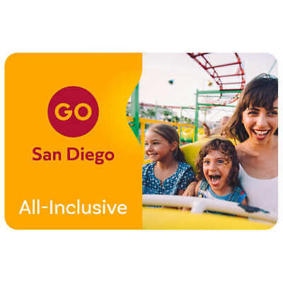 Four (4) Adult 4-Day Go San Diego All-Inclusive ePass With the 4 Big Theme Parks