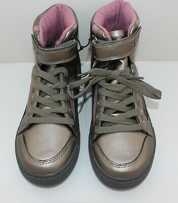 BNWT F & F Girls Silver/Grey Ankle Boots Size 2 **NEW** Pink detail