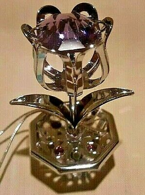 Crystocraft TULIP Standing Ornament with Strass Swarovski Crystal Elements UK