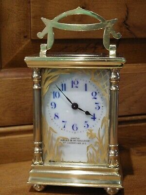 Art Nouveau French Carriage clock Very Rare Case style Fully Restored case & Mt