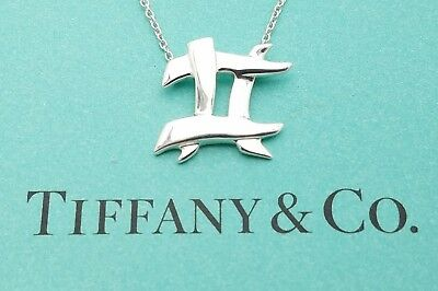 """Tiffany & Co 925 Sterling Silver Paloma Picasso Hashtag Pendant 16"""" In Necklace"""
