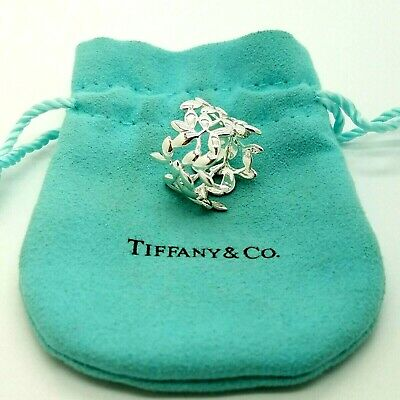 Tiffany & Co. Sterling Silver 925 Paloma Picasso Olive Leaf Ring Band Size 6.5