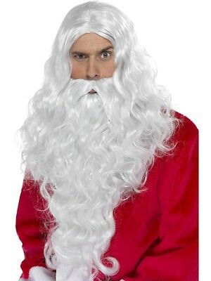 Father Christmas Deluxe Long Santa Claus Wig & Beard Set by Smiffys