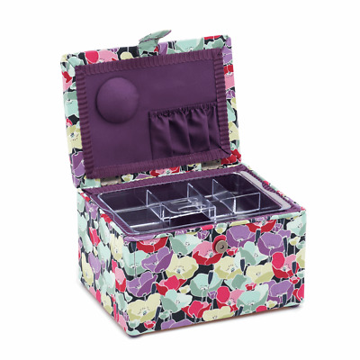 POPPIES SEWING BASKET STOOL Beginners Craft Box Sewing Machine Accessories SALE