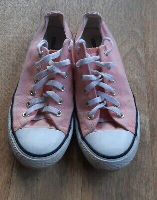Converse Girls Ladies Coral With Gold Stars Uk Size 4