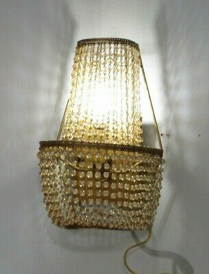 Antique Vintage Beaded Sconces 4 Available Wall Light Hollywood Regency