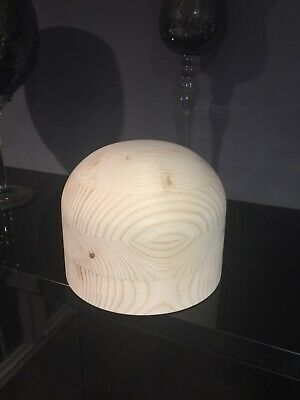 MILLINERY HAT BLOCK  Round Wooden (no Stand) Pre Owned.