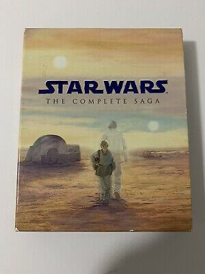 Star Wars: The Complete Saga (9-Disc Collection) [Blu-ray]  Set With Artwork