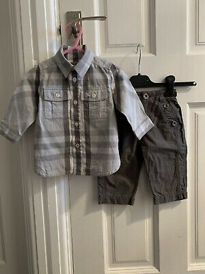Burberry Baby Boy Shirt And Trousers