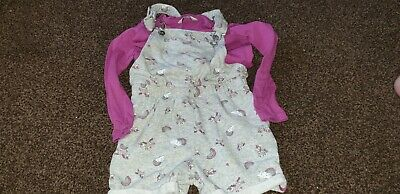 """Girls """"George"""" Unicorn Short & Top Outfit Size 4-5 years"""