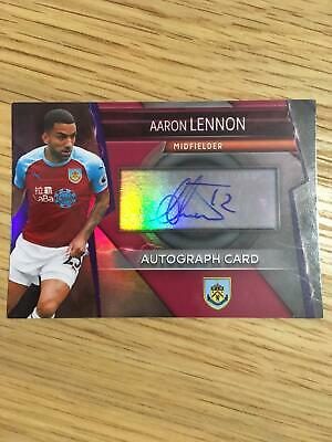 Burnley Aaron Lennon Autograph Topps Match Attax Ultimate Trading Card