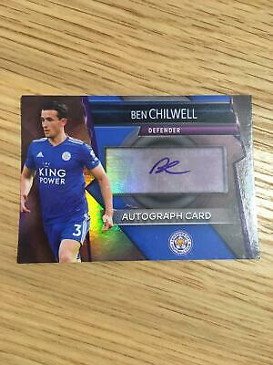 Leicester Ben Chilwell Autograph Topps Match Attax Ultimate Trading Card