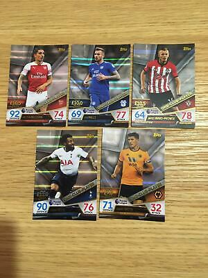 Topps Match Attax Ultimate Complete Set of 5 One Club Player Cards