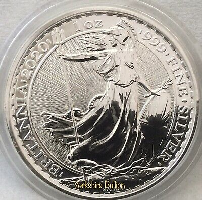 1oz Silver 2020 Royal Mint Britannia - With Capsule