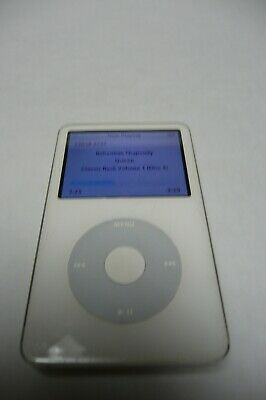 Apple A1136 iPod Classic 5th Gen, White, 30GB, Loaded With 2727 Songs, Nice!