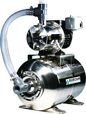 BURCAM 506547SS 3/4 HP Stainless Steel Shallow Well Jet Pump System, New