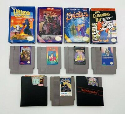 Lot of 8 Vintage NES Games Nintendo Dragon's Lair Conquest of the Crystal Palace