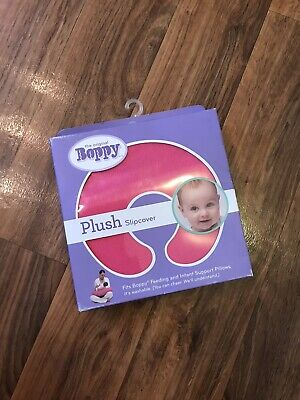 Boppy Support Pillow Cover Pink Baby Plush New In Box