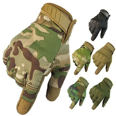 Tactical Hard Knuckle Gloves Mens Military Army Combat Security Police CS Patrol
