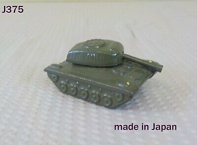 Vintage Japanese Friction Toy Army Tank
