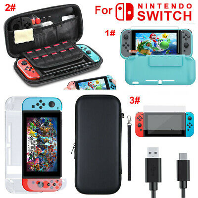 Silicone Case/ Case Bag+Shell Cover+Charging Cable+Protector for Nintendo Switch