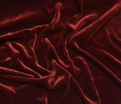 """STRETCH Burgundy VELVET COSTUME / DRESS FABRIC 58"""" WIDE SOLD BY THE YARD OR ROLL"""
