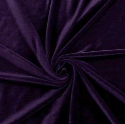 """STRETCH Purple VELVET COSTUME / CRAFT DRESS FABRIC 58"""" WIDE SOLD BY THE YARD"""