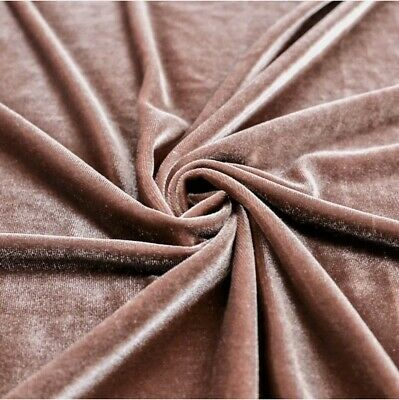 """STRETCH Mauve VELVET COSTUME CRAFT DRESS FABRIC 58"""" WIDE SOLD BY THE YARD"""