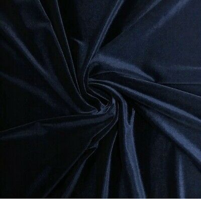 """STRETCH Navy VELVET COSTUME CRAFT DRESS FABRIC 58"""" WIDE SOLD BY THE YARD"""