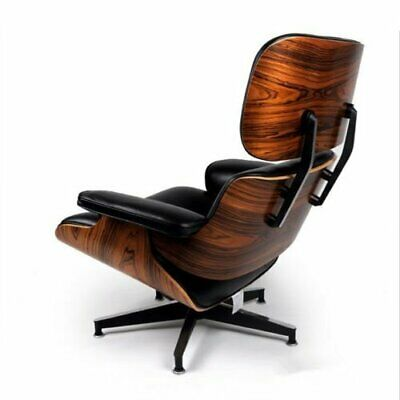 For Eames Style Lounge Chair and Ottoman Palisander Plywood  Black Palisander