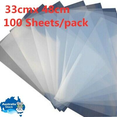 33cm x 48cm Waterproof Inkjet Milky Transparency Film - 100 Sheets/pack
