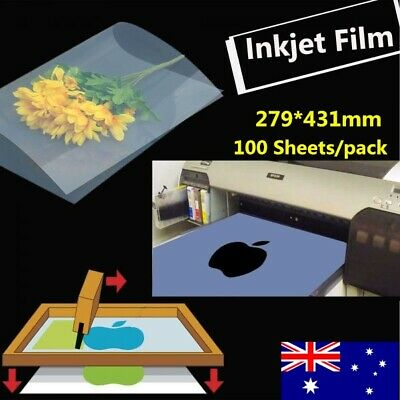 27.9cm x 43cm Waterproof Inkjet Milky Transparency Film - 100 Sheets/pack