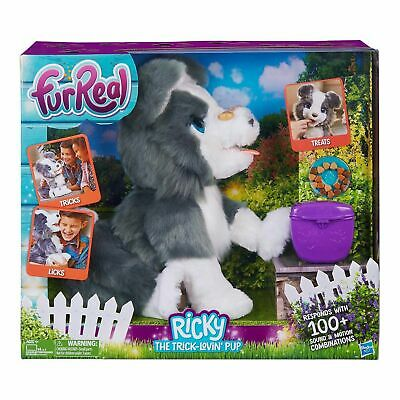 FurReal Dog Ricky The Trick Lovin Pup Toy Perform Tricks Kids Christmas Play Pet