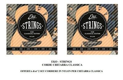Eko Strings Offerta Di 2 Set Corde Per Chitarra Classica Due Cordiera In Nylon