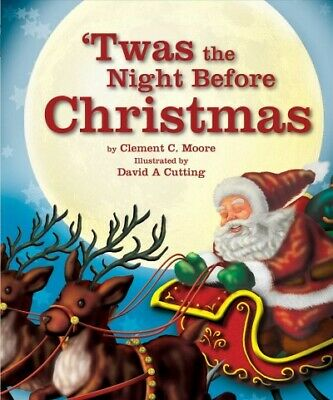 Twas the Night Before Christmas, Hardcover by Moore, Clement Clarke; Cutting,...