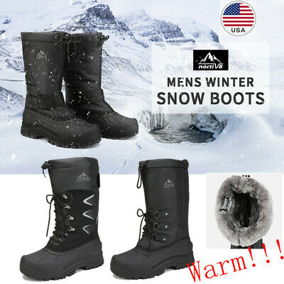 NORTIV 8 Men's Winter Snow Boots Waterproof Warm Thermolite Outdoor Hiking Boots